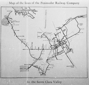 Santa Clara Railroad Map